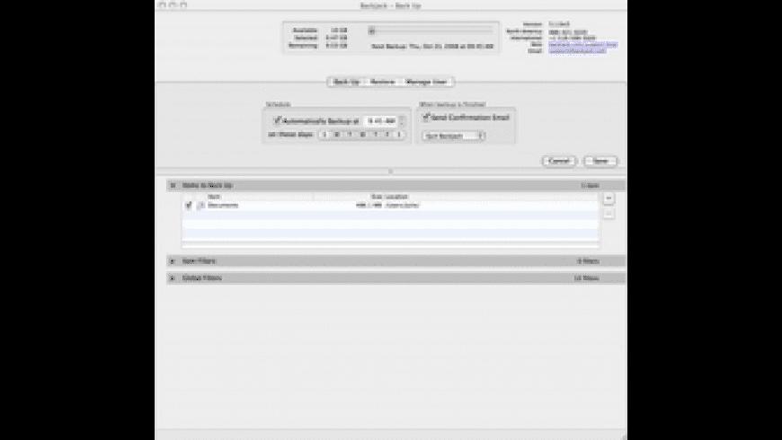 BackJack Online Backup for Mac - review, screenshots