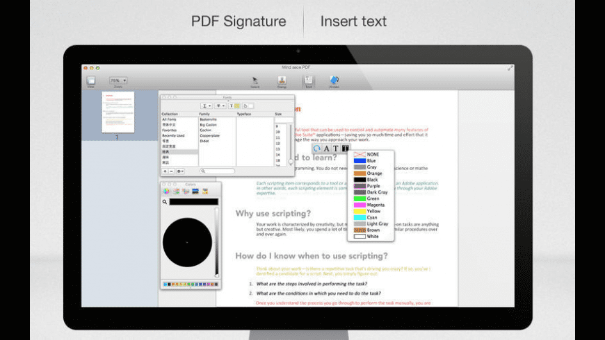 PDF Signature for Mac - review, screenshots