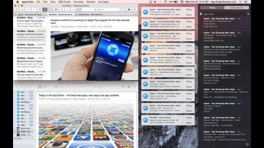 appn'wire for Mac - review, screenshots