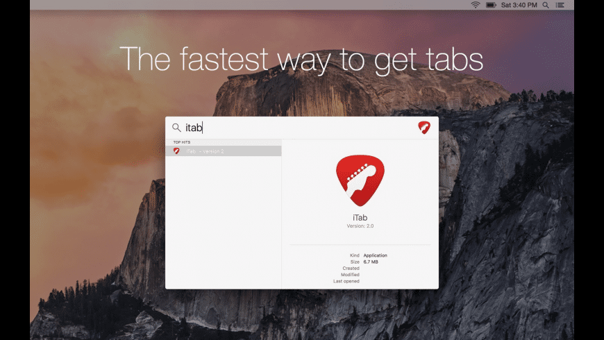 iTab for Mac - review, screenshots