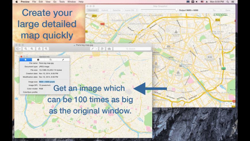 Map Snapshot for Mac - review, screenshots