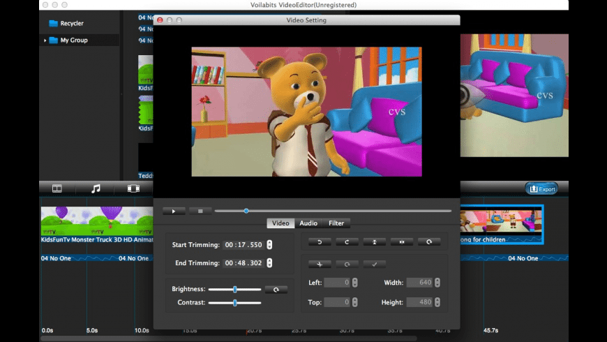 Voilabits VideoEditor for Mac - review, screenshots