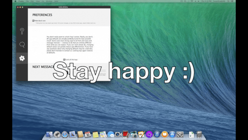 Subliminal for Mac - review, screenshots