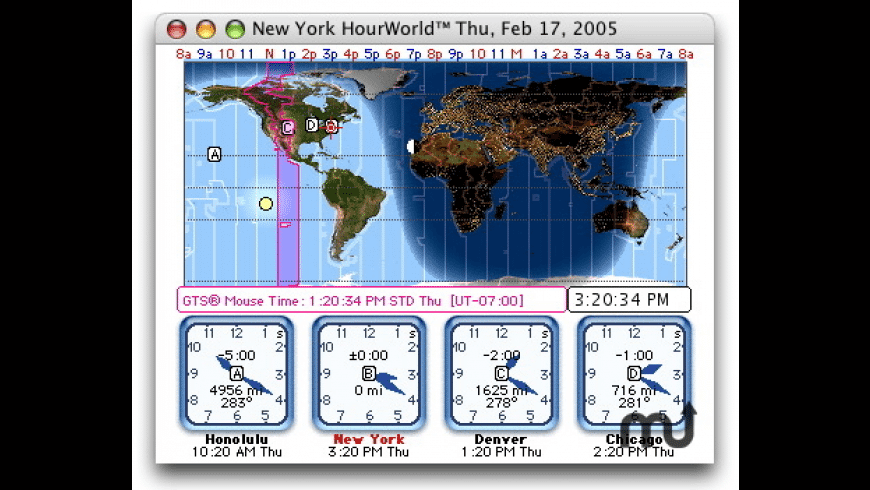HourWorld for Mac - review, screenshots