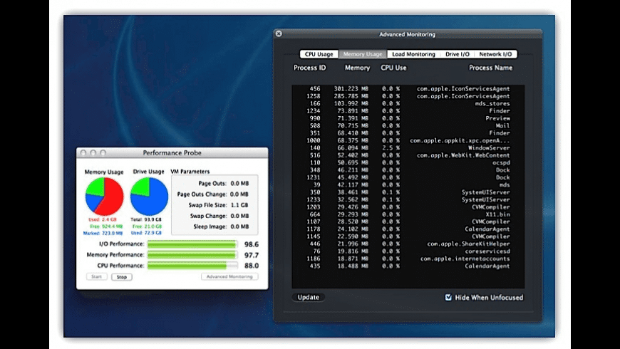 Performance Probe for Mac - review, screenshots