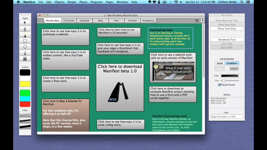 Manifest for Mac - review, screenshots