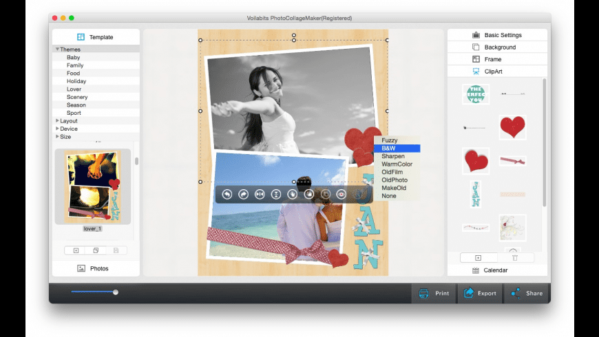 Voilabits PhotoCollageMaker for Mac - review, screenshots