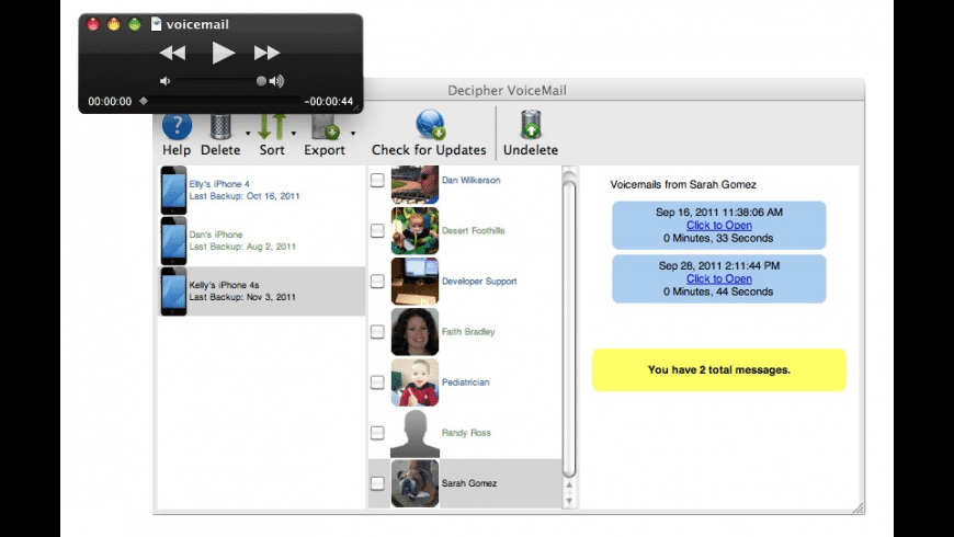 Decipher VoiceMail for Mac - review, screenshots