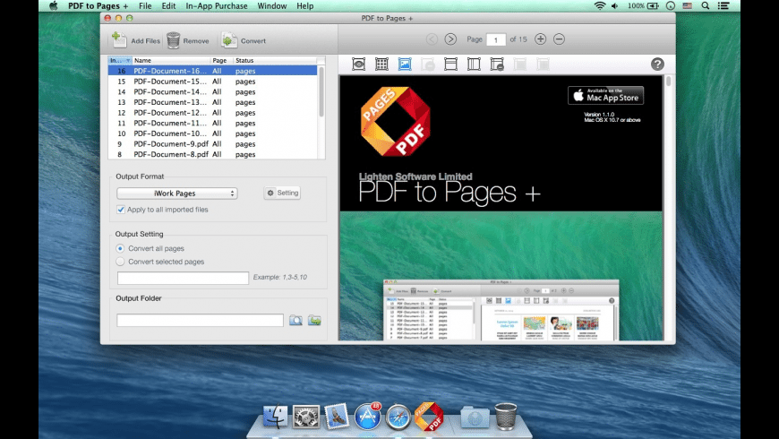 PDF to Pages + for Mac - review, screenshots