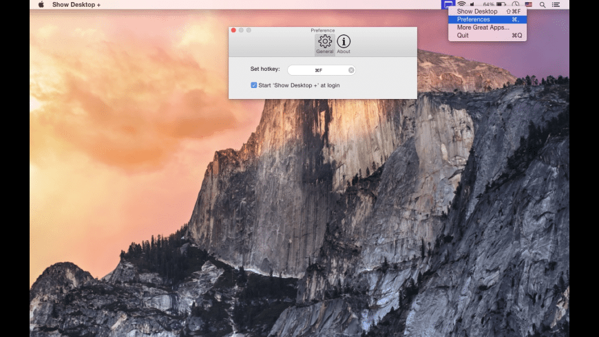 Show Desktop + for Mac - review, screenshots