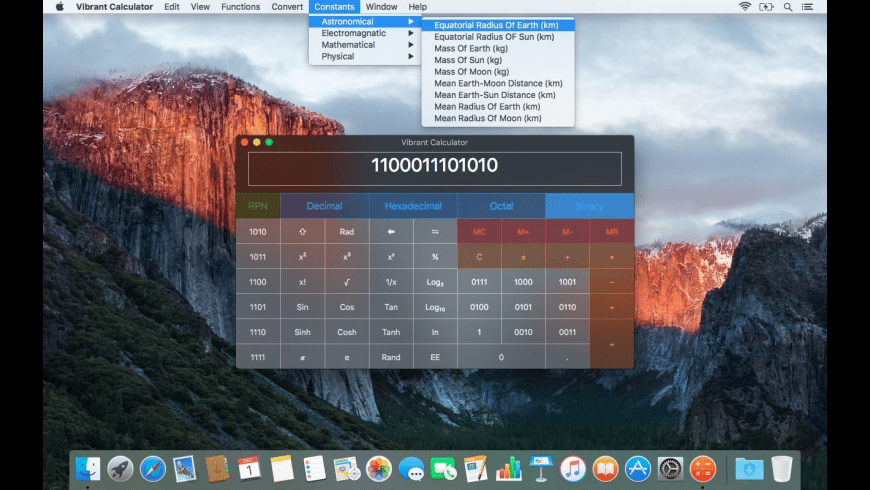 Vibrant Calculator for Mac - review, screenshots