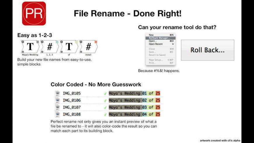 Perfect Rename for Mac - review, screenshots