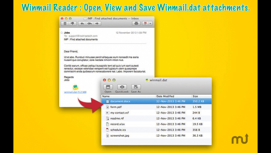 Winmail Reader for Mac - review, screenshots