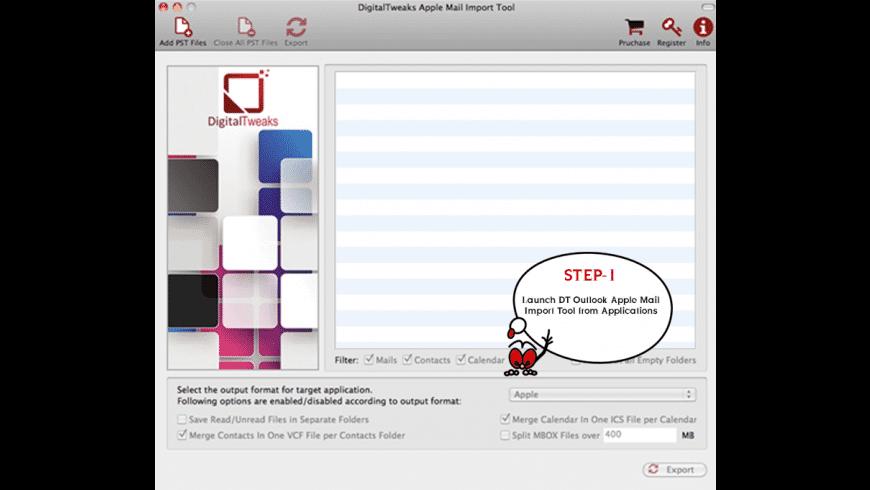 Digital Tweaks Apple Mail Import Tool for Mac - review, screenshots