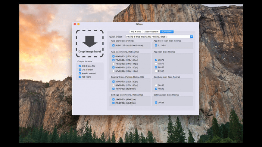 EZicon for Mac - review, screenshots
