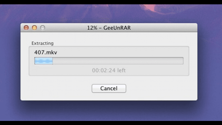 GeeUnRAR for Mac - review, screenshots