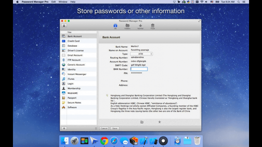 Password Manager Pro for Mac - review, screenshots
