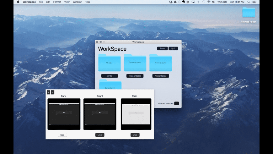 Workspace for Mac - review, screenshots