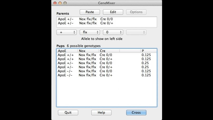GeneMixer for Mac - review, screenshots