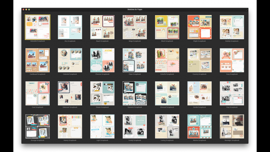 Sketches for Pages for Mac - review, screenshots