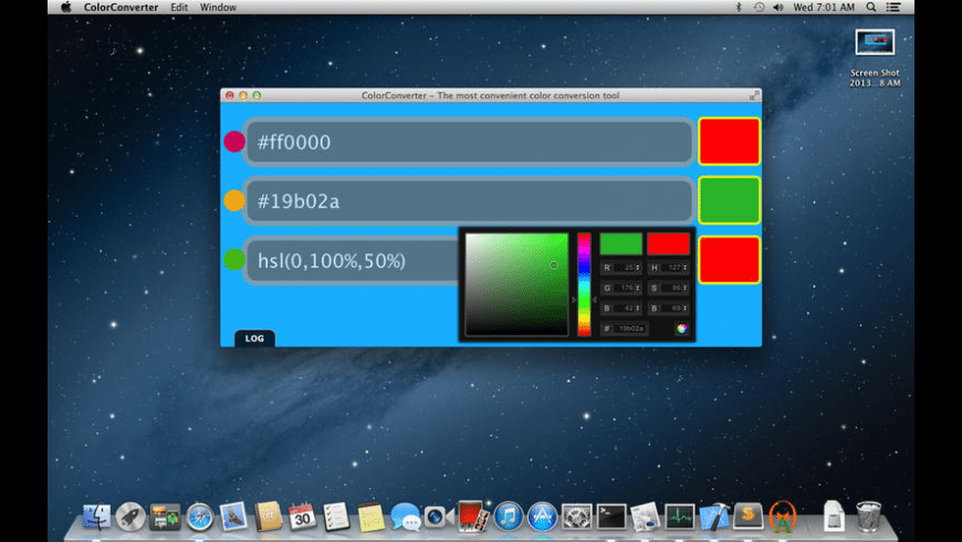 ColorConverter for Mac - review, screenshots