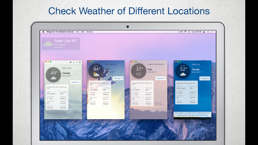 Widget for The Weather Channel for Mac - review, screenshots