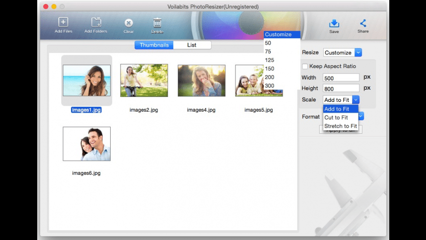 Voilabits PhotoResizer for Mac - review, screenshots