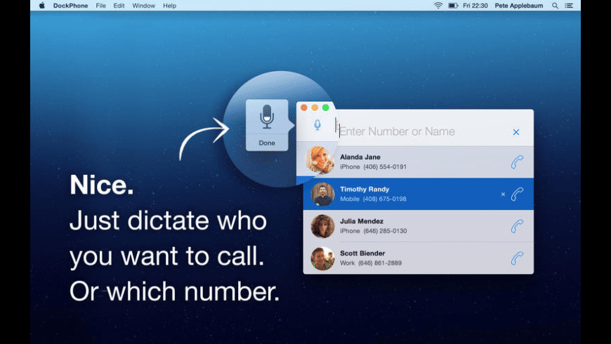 DockPhone for Mac - review, screenshots