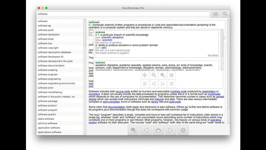 Fora Dictionary Pro for Mac - review, screenshots