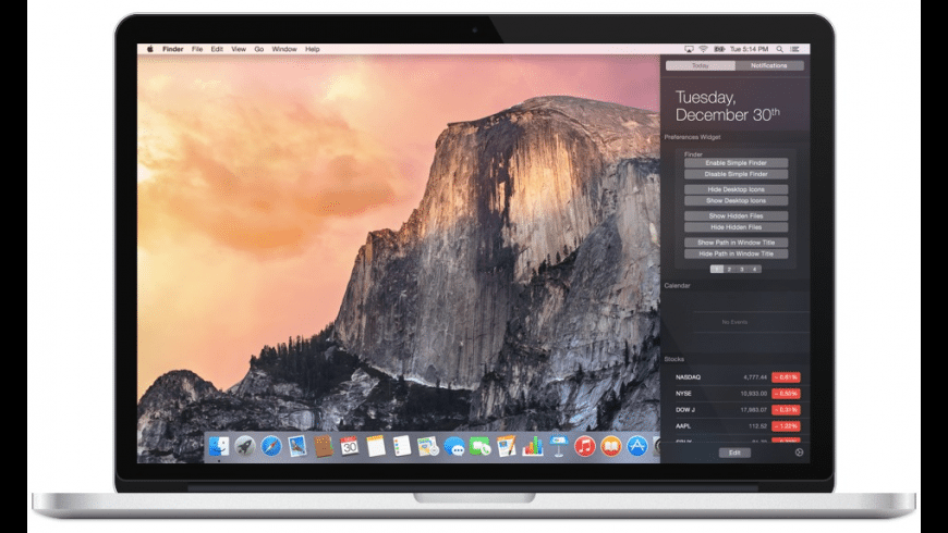 Yosemite Preferences for Mac - review, screenshots