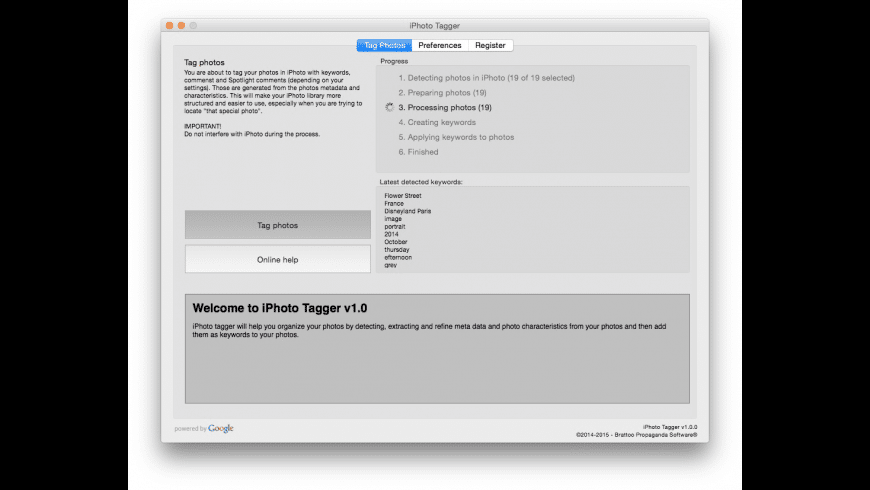 iPhoto Tagger for Mac - review, screenshots
