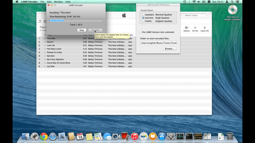 LAME Encoder for Mac - review, screenshots