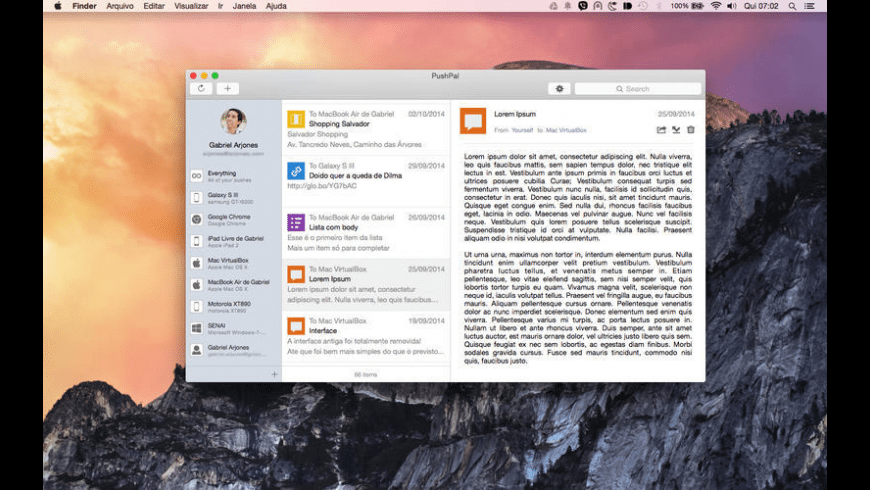 PushPal for Mac - review, screenshots