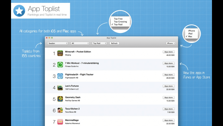 App Toplist for Mac - review, screenshots