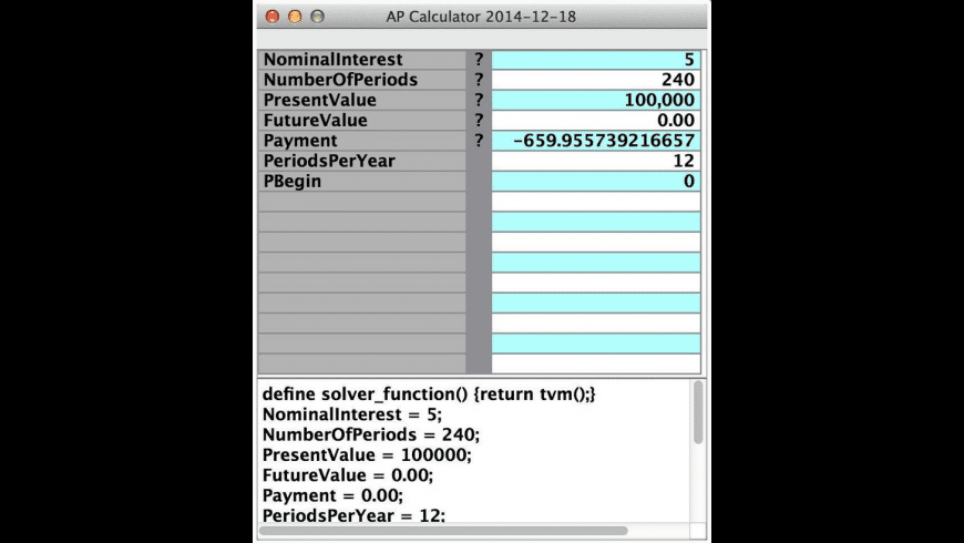 APCalculator for Mac - review, screenshots