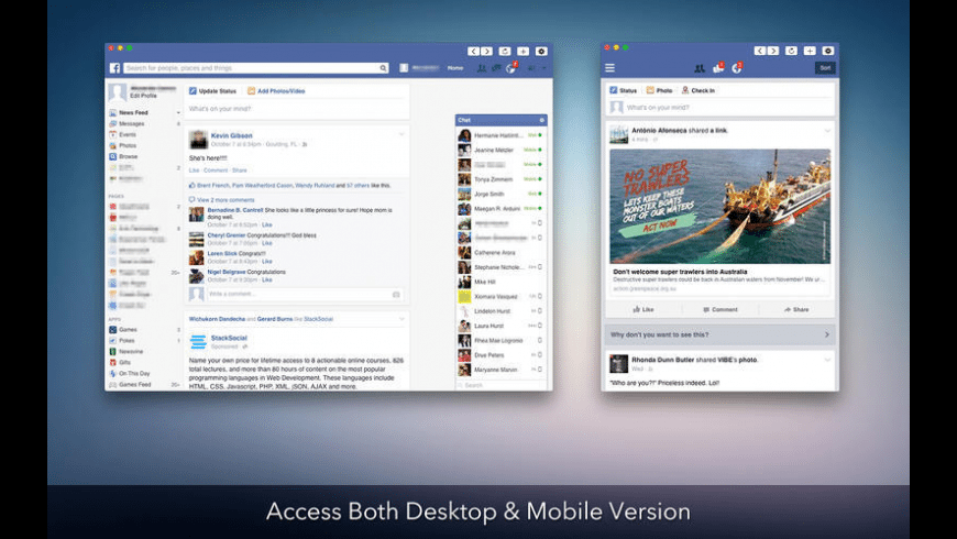 Face for Facebook for Mac - review, screenshots