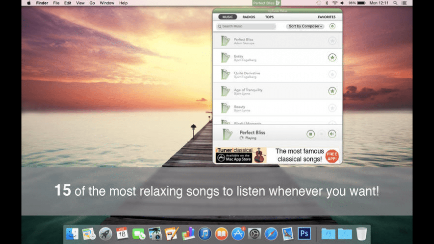 myTuner Relax Pro for Mac - review, screenshots