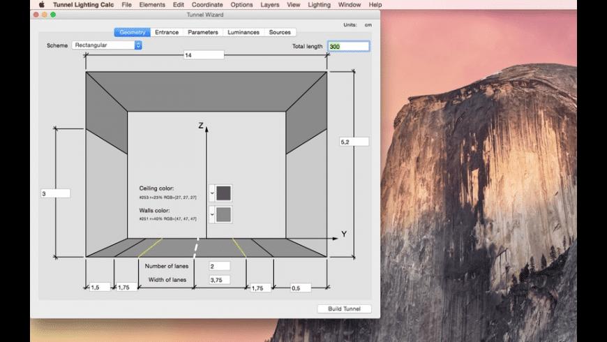 Tunnel Lighting Calc for Mac - review, screenshots
