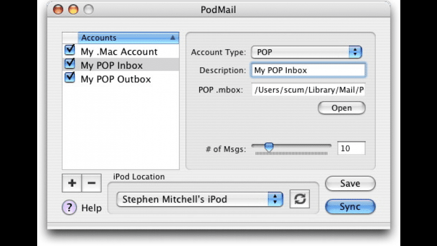 PodMail for Mac - review, screenshots