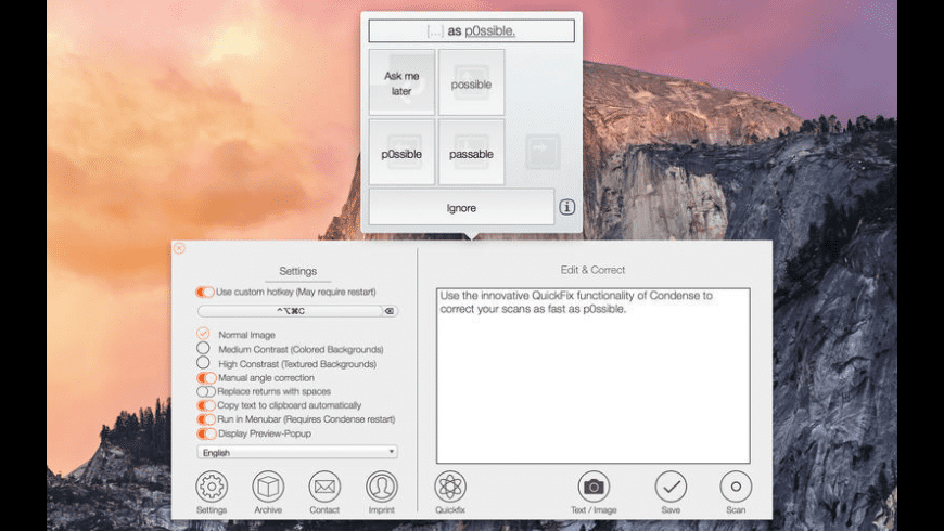 Condense for Mac - review, screenshots