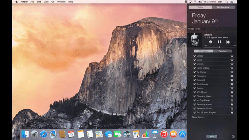 WidgeTunes for Mac - review, screenshots