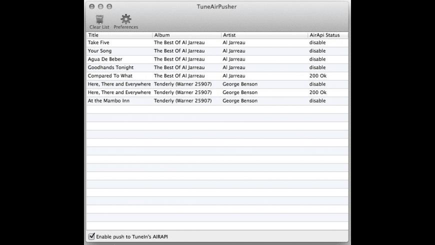 TuneAirPusher for Mac - review, screenshots