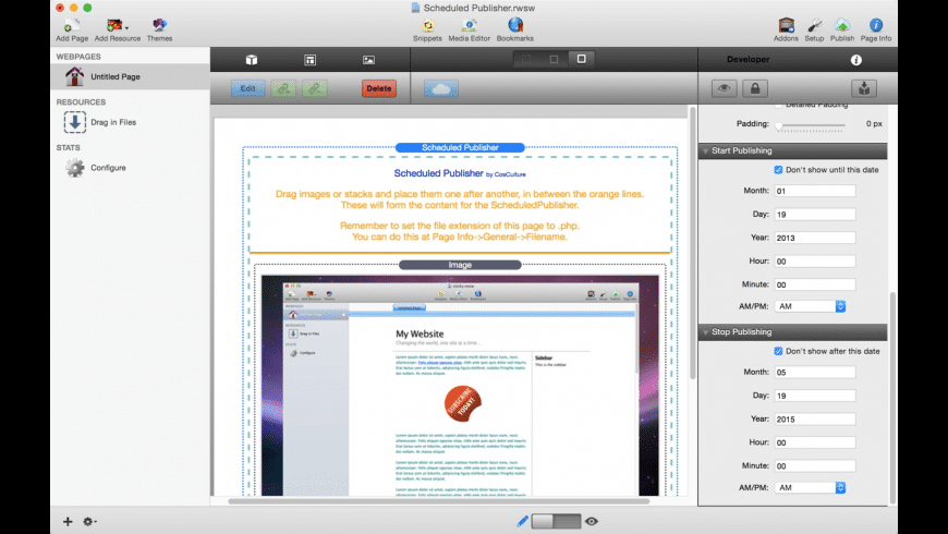 Scheduled Publisher for Mac - review, screenshots