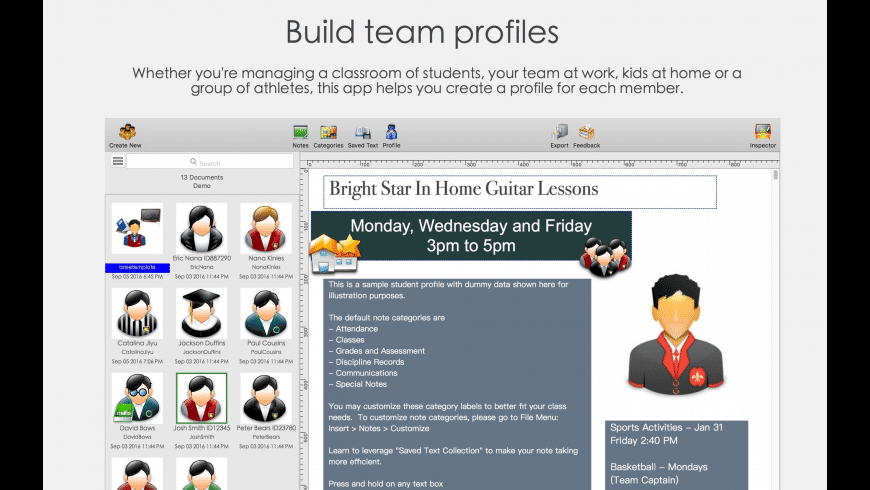 Student Profiles 2 for Mac - review, screenshots