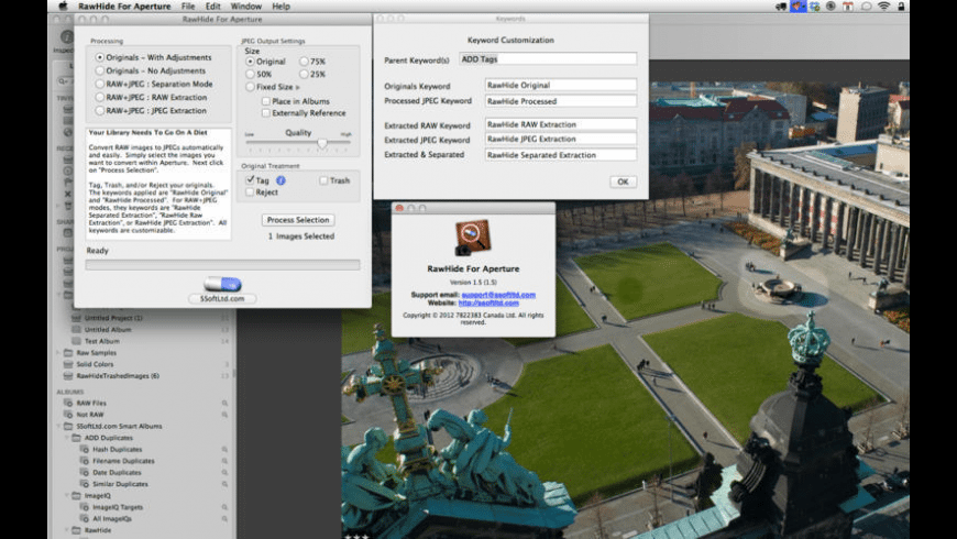 RawHide For Aperture for Mac - review, screenshots