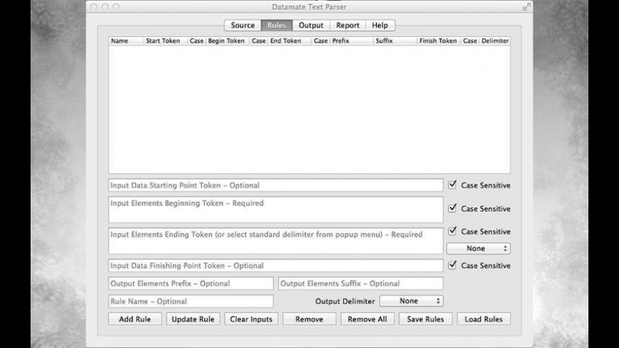 Datamate Text Parser for Mac - review, screenshots