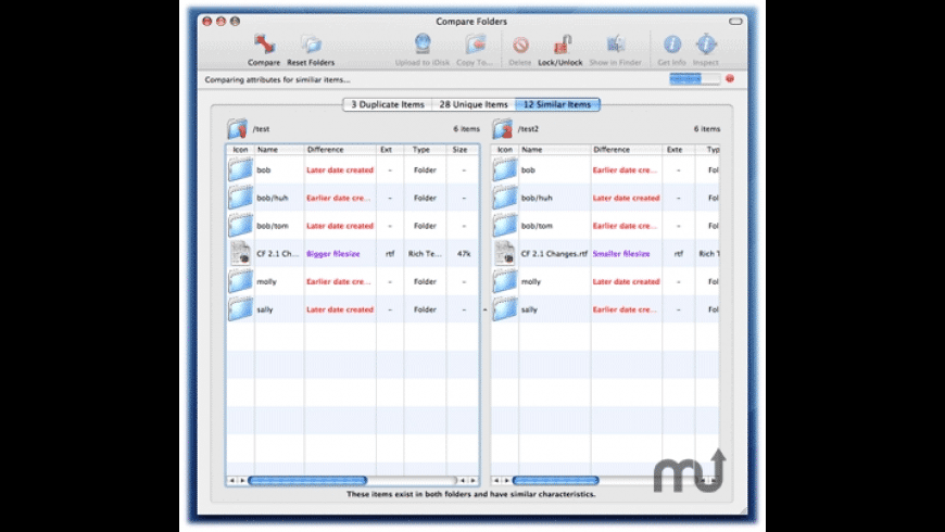 Compare Folders for Mac - review, screenshots