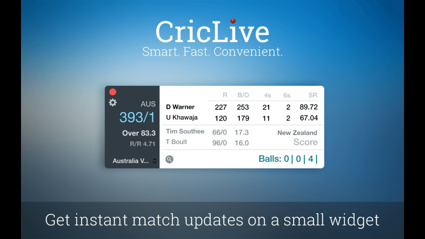 CricLive for Mac - review, screenshots