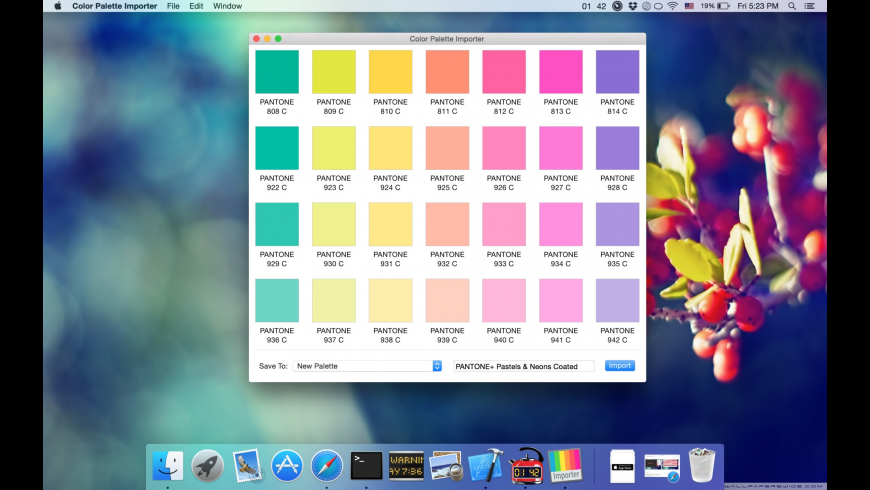 Color Palette Importer for Mac - review, screenshots