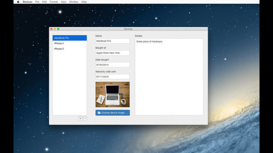 Devices for Mac - review, screenshots